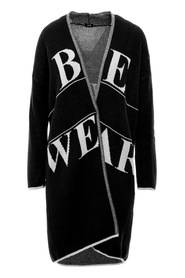 Longline cardigan with logo