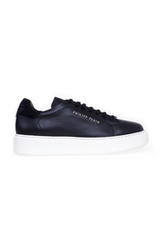 lo-top sneakers leather con strass