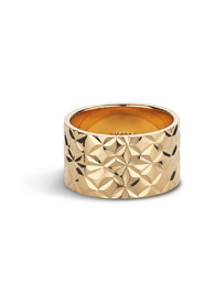 Large Reflection ring, gold-plated sterling silver