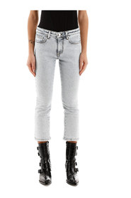 Cropped jeans with logo on back