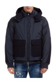 outerwear down jacket blouson hood
