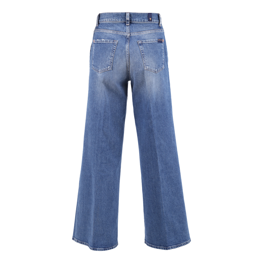 7 For All Mankind Blue JEANS LOTTA CROPPED KEEPER WITH BUTTONS 7 For All Mankind