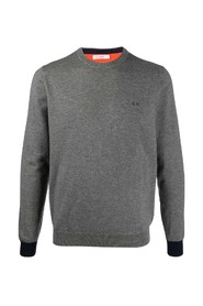 Crewneck sweater with contrasts