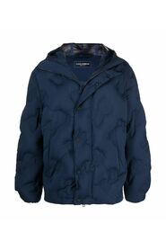 quilted down jacket with embossed logo