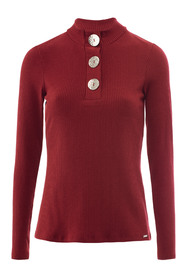 SWEATSHIRT WITH BUTTONS ON THE CHEST