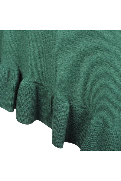 "Green Sweter ""open Shoulder"" 