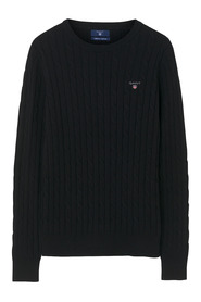 Stretch Cotton Cable Crew knitwear