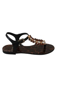 Rubber Crystal Sandals