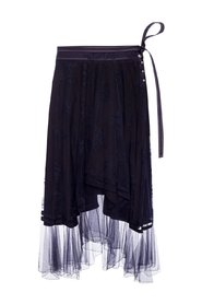 Skirt with lace trim
