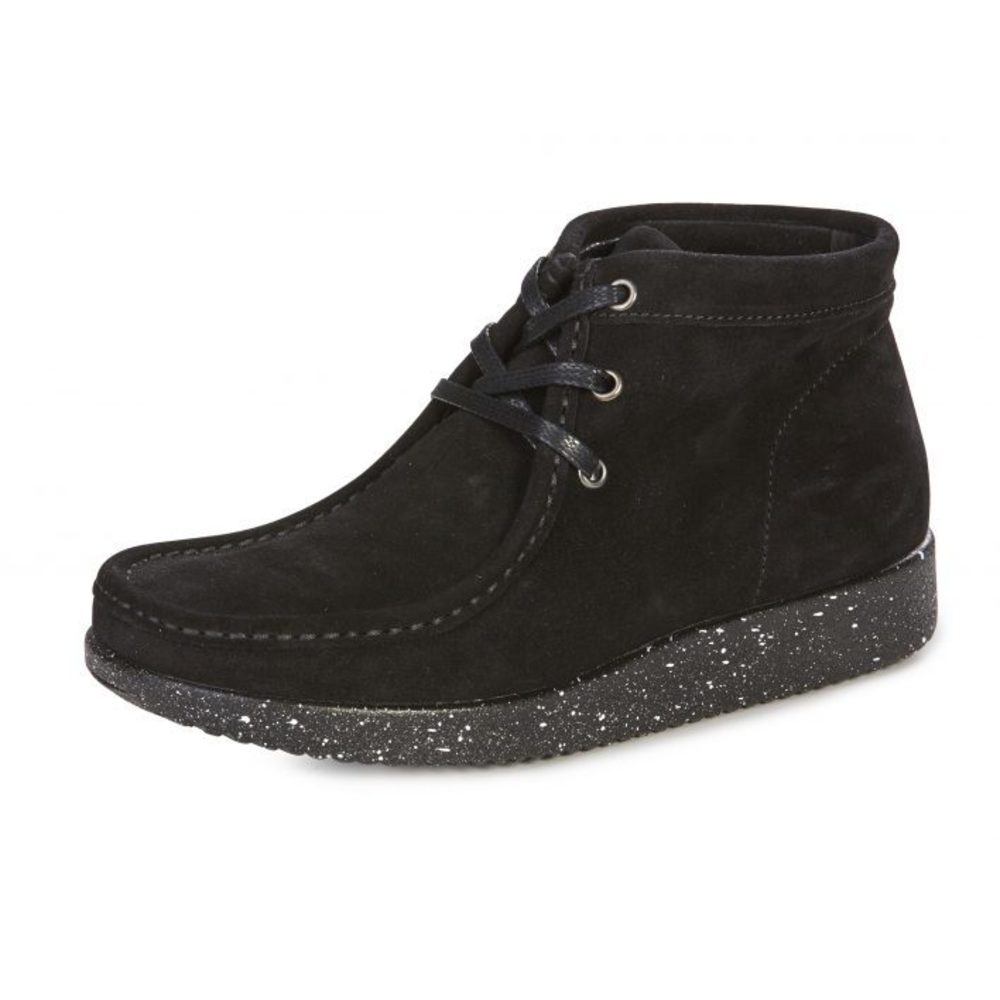 Nature Støvle Emma Suede black with matching sole