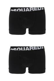 Two-pack of boxer shorts with a logo