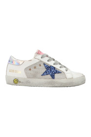 Super Star leather sneakers with laces and non-woven fabric insert