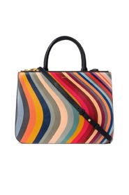 Swirl Print Leather Tote Bag