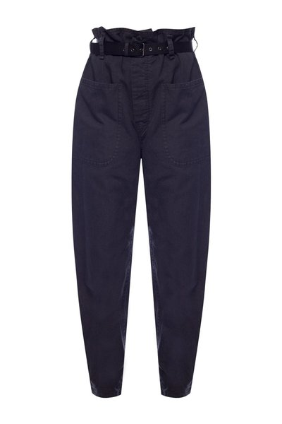 NAVY BLUE High-waisted trousers | Isabel Marant | Baggy bukser