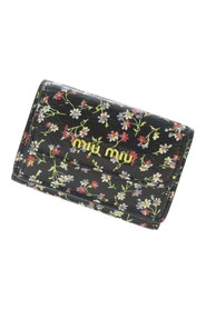 Printed Leather Small Wallet