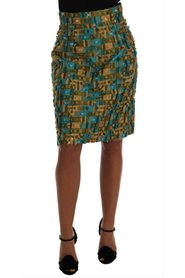 Jacquard Straight Pencil Skirt