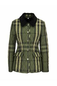 LYDD A21 -  blend quilted jacket with tartan pattern