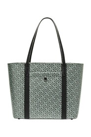 COATED CANVAS SMALL TOP ZIP TOTE