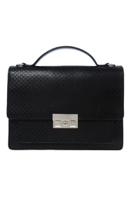 Pre-owned Diamante Leather Business Bag
