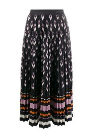 Midi skirt with striped details