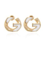 Logo-shaped earrings
