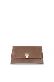 Decadent Nora Small Clutch Suede Nougat