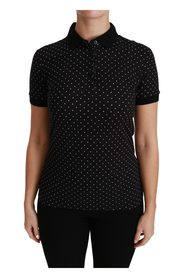 Dotted Collared Polo Shirt