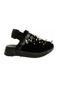 Marshamllow Sandals In Rubber, Suede, Shearling with Studs