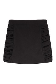 F5768 Heavy Crepe Mini Skirt