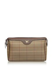 Plaid Jacquard Clutch Bag
