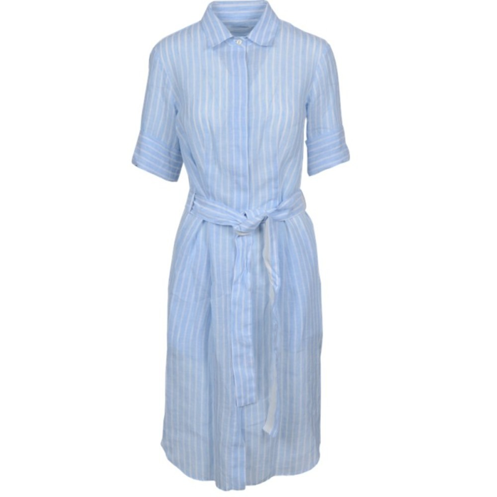 Linen Dress with Band