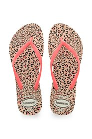 Havaianas - Klipklapper, Slim Animals - White / Coral New