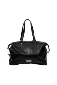 Momos python effect leather large tote bag