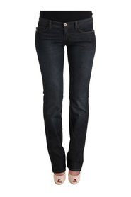 Cotton Slim Flared Jeans