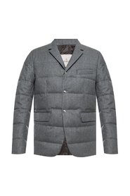 Quilted down jacket with blazer motif