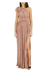 Long dress with pleats and bow