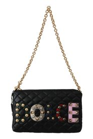 Quilted Studded Borse Clutch