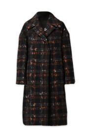 Manteau à Carreaux Oversized