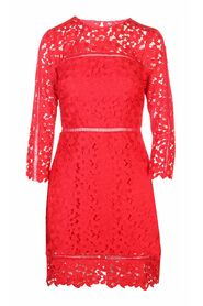 Pre-owned Flower Lace Dress