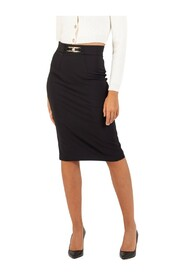 Calf-length skirt with a double-C horse bit