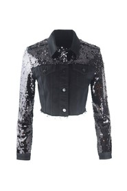 Cropped Cyra Sequin Jacket