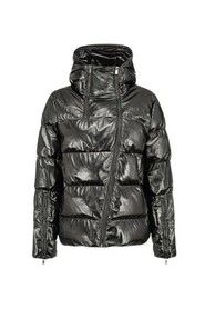 Cropped Patent-effect Down Jacket