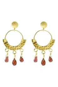 Garnet Etno Earrings