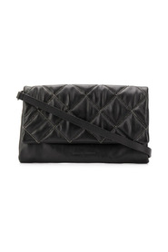 Beaded quilted cross-body bag