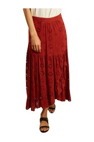 Juponnée english embroidery long skirt