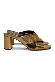 Cracked-Leather Mules