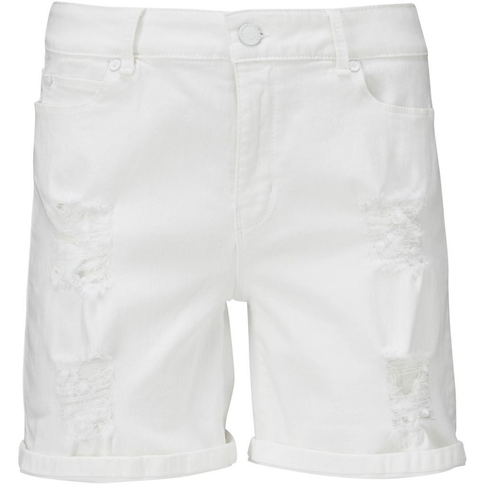 Ree shorts white distressed