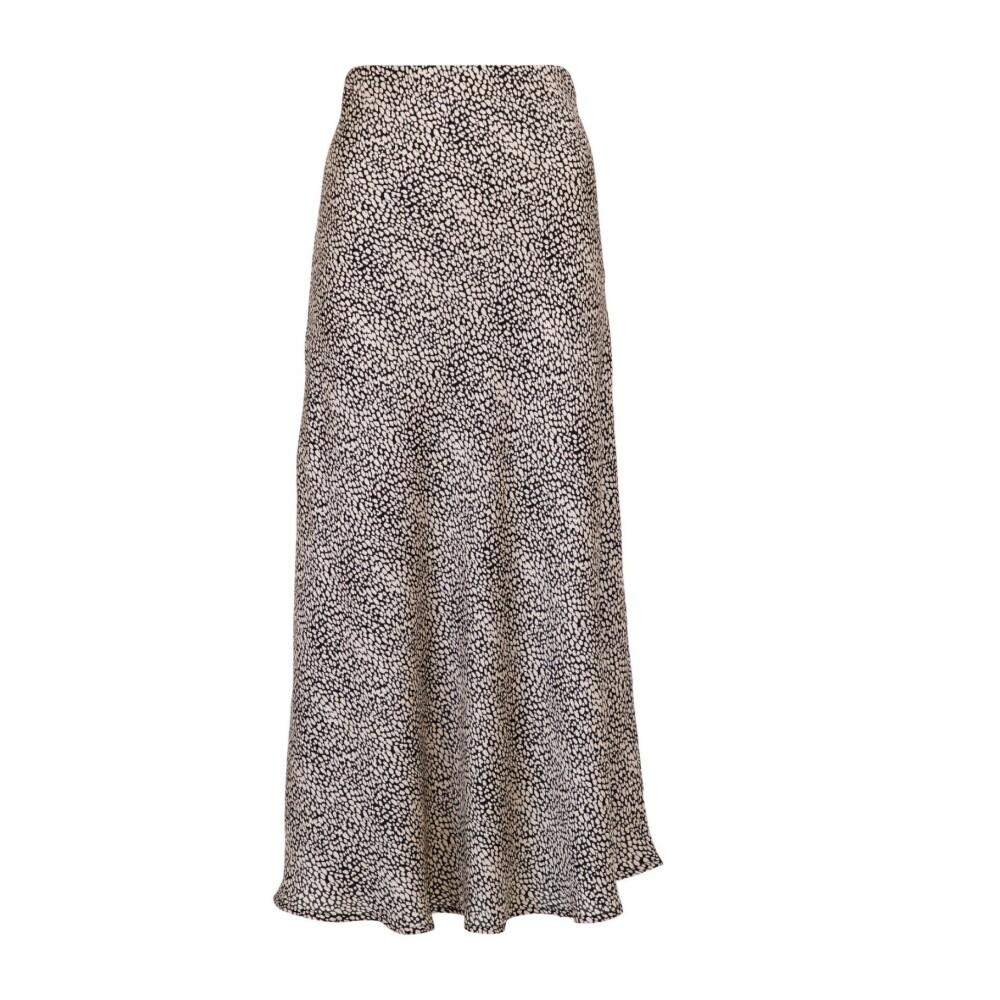Neo Noir Sand/sort print Bovary Stone Skirt Neo Noir