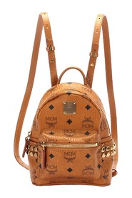 Mini Visetos Leather Backpack