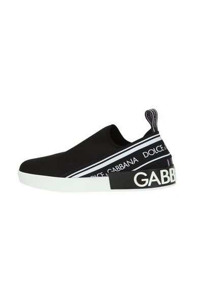 BLACK Slip-on shoes with logo   Dolce & Gabbana   Sneakers
